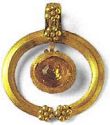 Музей ювелирного искусства – Греция – Часть 7. Романский период. Золотая подвеска