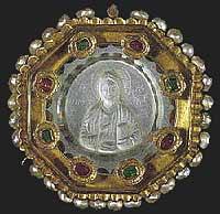 Музей ювелирного искусства – Греция – Часть 8.2. Византия (4-15 век). Энкольпия с Христом Вседержителем