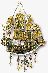 Музей ювелирного искусства – Греция – Часть 9.1. Неоэллинский период (1453-1900).  Золотая подвеска